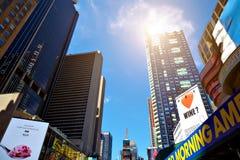 ΠΟΛΗ ΤΗΣ ΝΕΑΣ ΥΌΡΚΗΣ - 14 ΙΟΥΝΊΟΥ 2016: Times Square ΗΠΑ Στοκ εικόνες με δικαίωμα ελεύθερης χρήσης