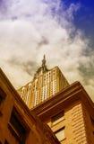 ΠΟΛΗ ΤΗΣ ΝΕΑΣ ΥΌΡΚΗΣ - 22 ΜΑΐΟΥ: Το Εmpire State Building, άποψη από το στρεπτόκοκκο Στοκ Εικόνες