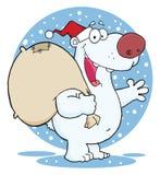 Πολική αρκούδα santa Χριστουγέννων απεικόνιση αποθεμάτων