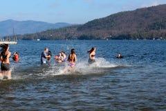 Πολική κατάδυση, Νοεμβρίου 2012, λίμνη George, Νέα Υόρκη Στοκ φωτογραφίες με δικαίωμα ελεύθερης χρήσης