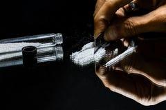 Πολιτεία της εθισμός-κοκαΐνης στοκ φωτογραφία