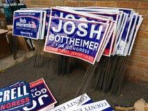 Πολιτικά σημάδια χορτοταπήτων, πολιτικοί του Νιου Τζέρσεϋ, εκλογή, ΗΠΑ στοκ εικόνα με δικαίωμα ελεύθερης χρήσης