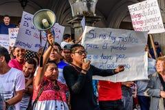 Πολιτικές διαμαρτυρίες, Αντίγκουα, Γουατεμάλα στοκ φωτογραφία