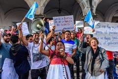 Πολιτικές διαμαρτυρίες, Αντίγκουα, Γουατεμάλα στοκ εικόνες