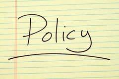 Πολιτική για ένα κίτρινο νομικό μαξιλάρι Στοκ φωτογραφίες με δικαίωμα ελεύθερης χρήσης