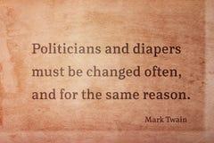 Πολιτικοί Twain αλλαγής στοκ φωτογραφία με δικαίωμα ελεύθερης χρήσης