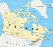 Πολιτικός χάρτης του Καναδά διανυσματική απεικόνιση