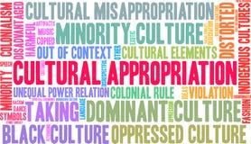Πολιτιστικό σύννεφο του Word σφετερισμού ελεύθερη απεικόνιση δικαιώματος