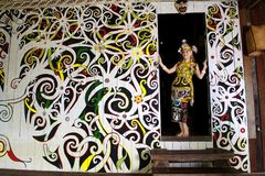Πολιτιστικό χωριό Sarawak στοκ εικόνες με δικαίωμα ελεύθερης χρήσης