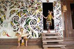 Πολιτιστικό χωριό Sarawak στοκ εικόνα