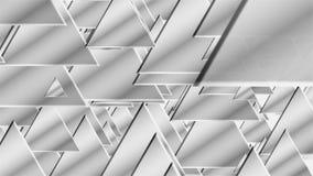 Πολλά άσπρα τρίγωνα για το εννοιολογικό υπόβαθρο τεχνολογίας, τρισδιάστατο δίνουν παραγμένη την υπολογιστής αφαίρεση διανυσματική απεικόνιση