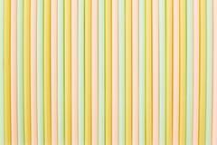 Πολλά διαφορετικά χρώματα των αχύρων για την κατανάλωση στοκ φωτογραφίες με δικαίωμα ελεύθερης χρήσης