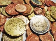 Πολλά ευρο- νομίσματα Στοκ Εικόνα