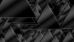 Πολλά μαύρα τρίγωνα για το υπόβαθρο τεχνολογίας, τρισδιάστατο δίνουν παραγμένη την υπολογιστής αφαίρεση απεικόνιση αποθεμάτων