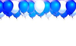 Πολλά μπλε και άσπρα μπαλόνια απεικόνιση αποθεμάτων