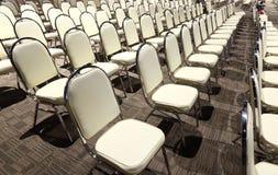 Πολλές έδρες τακτοποίησαν στη διαταγή σειρών για το διαγωνισμό απόδοσης Bal Στοκ Εικόνα
