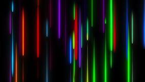 Πολλές κάθετες γραμμές φωτισμού νέου, αφηρημένο παραγμένο υπολογιστής σκηνικό, τρισδιάστατο δίνουν απεικόνιση αποθεμάτων