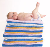 πολλές πετσέτες Στοκ εικόνα με δικαίωμα ελεύθερης χρήσης