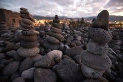 Πολλές στρογγυλές πέτρες στοκ εικόνα
