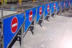 Πολλή είσοδος αριθ. signats η είσοδος στο στάδιο Κλειστός επάνω Στοκ Φωτογραφία