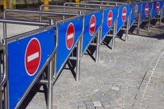 Πολλή είσοδος αριθ. signats η είσοδος στο στάδιο Στοκ Φωτογραφία