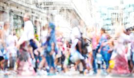Πολλαπλάσια εικόνα έκθεσης των περπατώντας ανθρώπων στο Λονδίνο Απεικόνιση επιχειρησιακής έννοιας Στοκ εικόνες με δικαίωμα ελεύθερης χρήσης