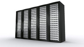 πολλαπλάσιοι κεντρικοί υπολογιστές ραφιών διανυσματική απεικόνιση