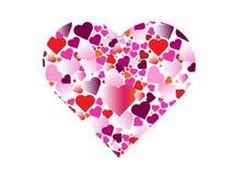 Πολλαπλάσιο ζωηρόχρωμο υπόβαθρο καρδιών στοκ εικόνα με δικαίωμα ελεύθερης χρήσης