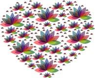 Πολλαπλάσιο λογότυπο καρδιών λουλουδιών χρώματος Στοκ Φωτογραφίες