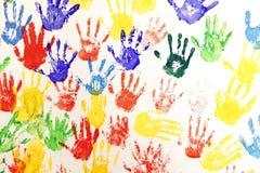 πολλαπλάσιο χρώματος handprint Στοκ Φωτογραφία