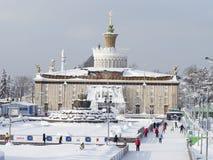Πολλοί άνθρωποι κάνουν πατινάζ στη Μόσχα Στοκ εικόνες με δικαίωμα ελεύθερης χρήσης