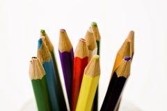 πολλοί γράφουν με μολύβι Στοκ Φωτογραφίες