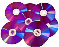 Πολλοί δίσκοι μέσων DVD στο σωρό Στοκ εικόνα με δικαίωμα ελεύθερης χρήσης