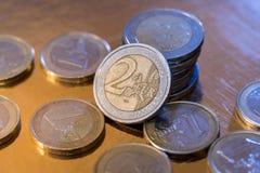 Πολλοί ευρο- νόμισμα Στοκ φωτογραφίες με δικαίωμα ελεύθερης χρήσης