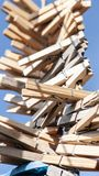 Πολλοί ξύλινο Clothespins Στοκ Εικόνα
