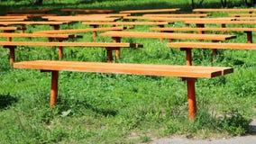 Πολλοί πάγκοι στο πάρκο Στοκ Εικόνες