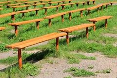 Πολλοί πάγκοι στο πάρκο Στοκ Εικόνα
