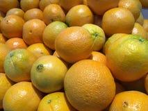Πολλοί πορτοκαλιά φρούτα στην αγορά Στοκ Φωτογραφίες