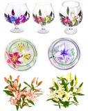 Πολλοί όμορφοι κρίνοι χωρίς υπόβαθρο, κρίνοι λουλουδιών που απομονώνονται στους μεγάλους αριθμούς Στοκ εικόνα με δικαίωμα ελεύθερης χρήσης
