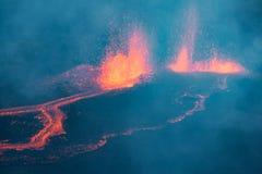 Πολυάριθμες ροές λάβας Piton de Λα Fournaise, στη Νήσο Ρεϊνιόν Στοκ Εικόνες
