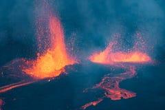 Πολυάριθμες ροές λάβας Piton de Λα Fournaise, στη Νήσο Ρεϊνιόν Στοκ Φωτογραφίες