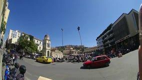 Πολυάσχολη πλατεία Monastiraki, Αθήνα, Ελλάδα φιλμ μικρού μήκους
