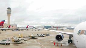 Πολυάσχολος αερολιμένας στις ΗΠΑ απόθεμα βίντεο