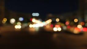 Πολυάσχολος από τη σκηνή νυχτερινών πόλεων εστίασης απόθεμα βίντεο