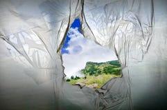 πολυαιθυλένιο τρυπών Στοκ φωτογραφία με δικαίωμα ελεύθερης χρήσης