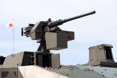 Πολυβόλο που τοποθετείται σε ένα στρατιωτικό όχημα Στοκ φωτογραφία με δικαίωμα ελεύθερης χρήσης