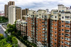 Πολυκατοικία 3 πολυόροφων κτιρίων της Σαγκάη στοκ φωτογραφίες με δικαίωμα ελεύθερης χρήσης