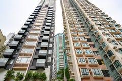 Πολυκατοικίες Χονγκ Κονγκ, ιδιωτικές κατοικίες στο Χονγκ Κονγκ, Κίνα στοκ εικόνα με δικαίωμα ελεύθερης χρήσης