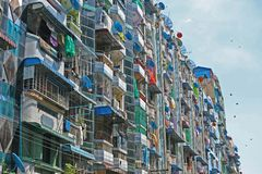 Πολυκατοικίες Yangon Βιρμανία στοκ φωτογραφίες