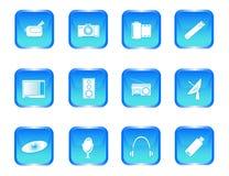 πολυμέσα κουμπιών απεικόνιση αποθεμάτων